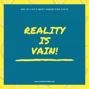 Reality Vs Vanity